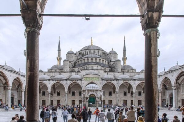 front view of blue mosque - travel to turkey