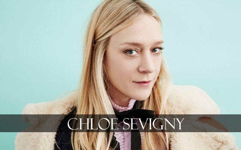 Chloe Sevigny in blue background