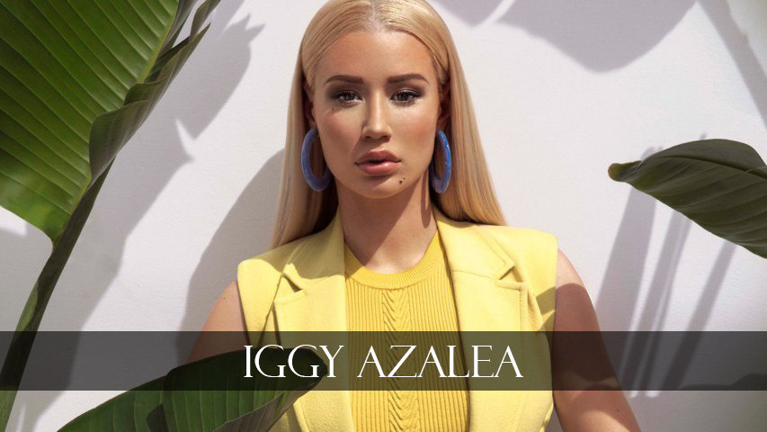 Iggy Azalea in yellow cloths
