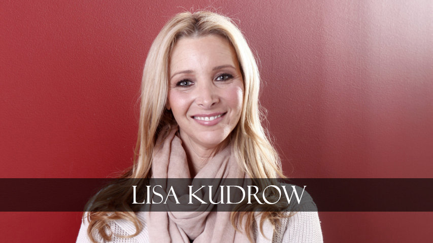 Lisa Kudrow in red background