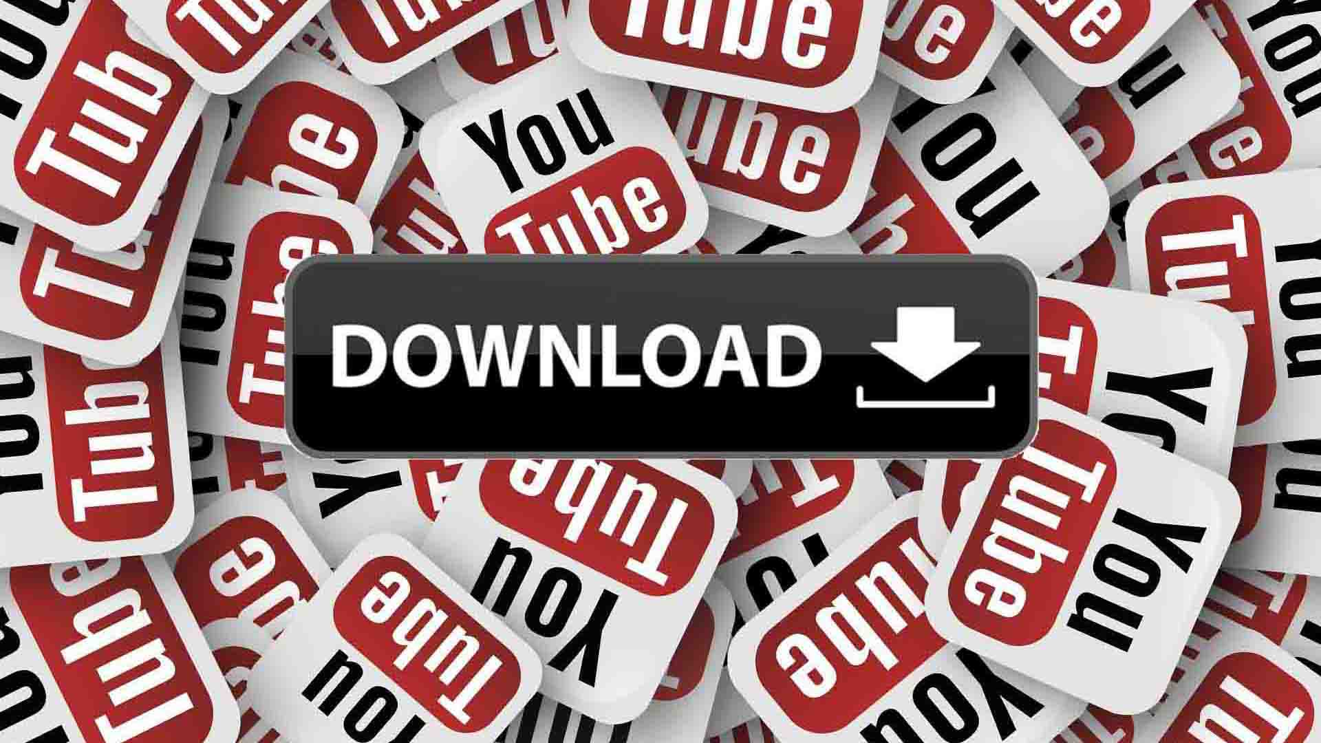 download button among youtube stickers