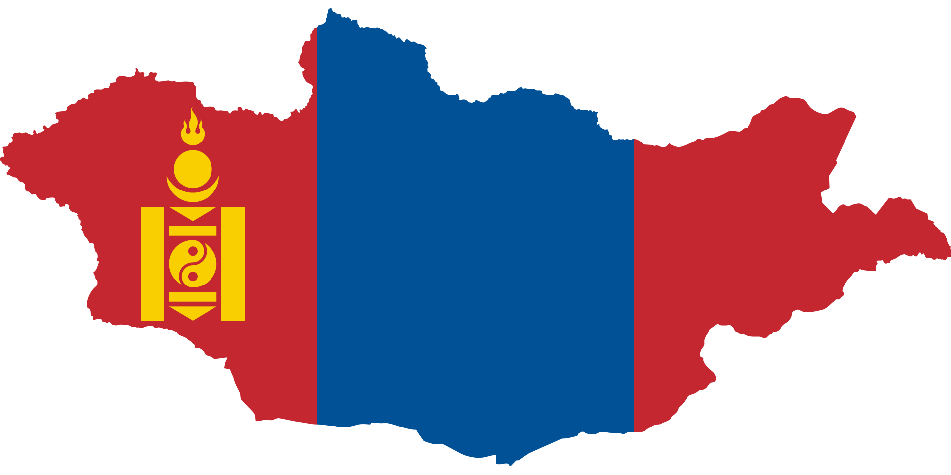 Mongolia Map Flag, Polluted Countries