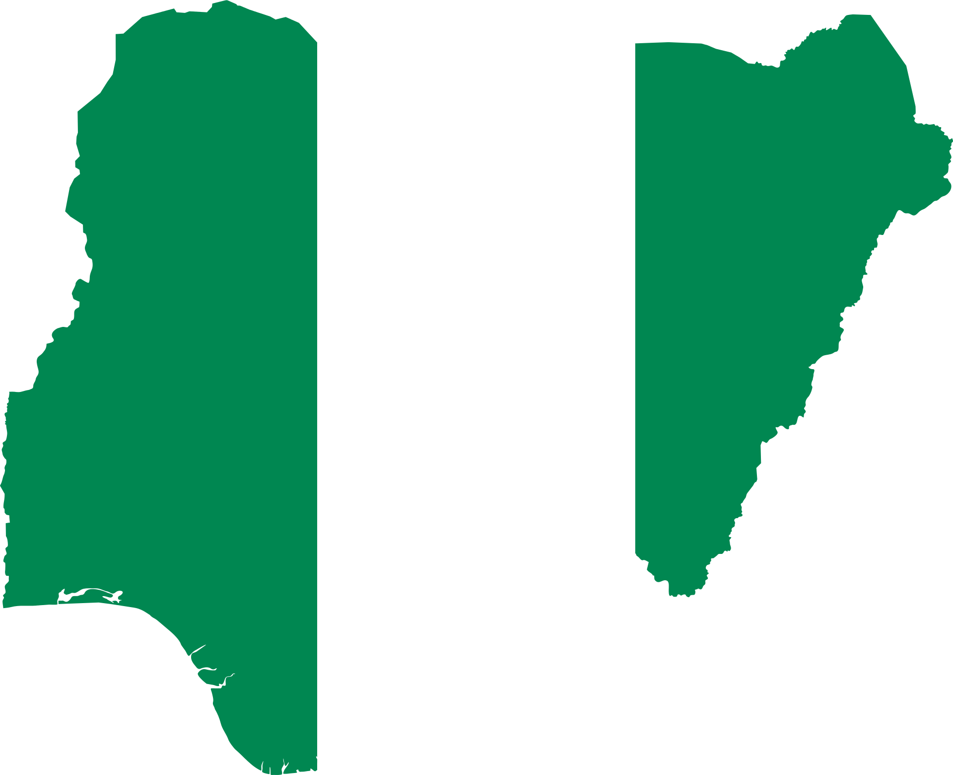 Nigeria Map Flag, Polluted Countries