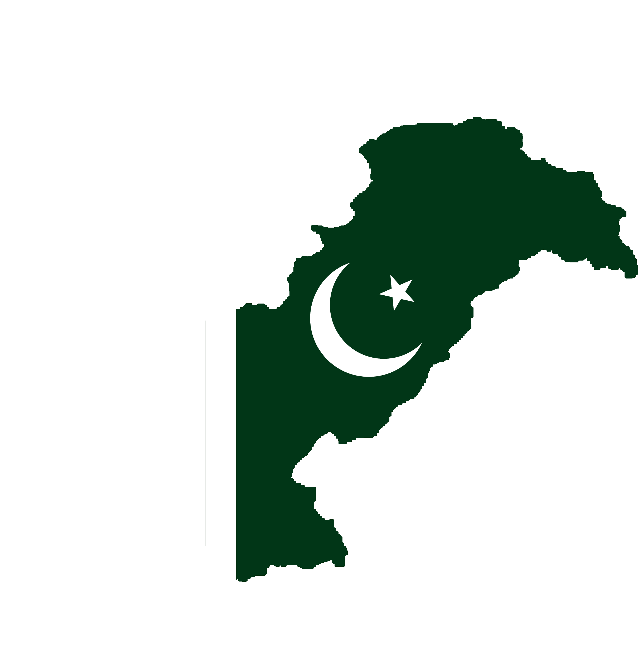 pakistan map flag, Polluted Countries