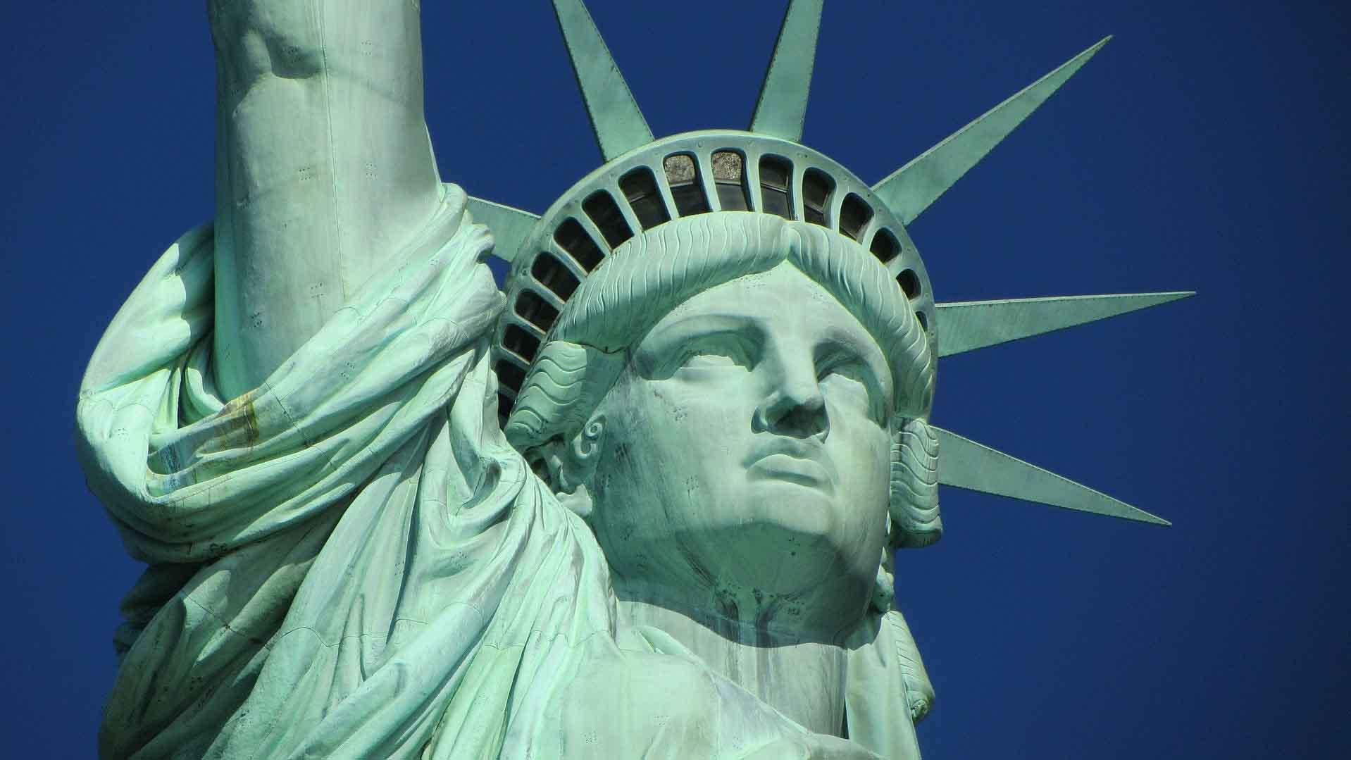A Closeup of Statue of Liberty - American History