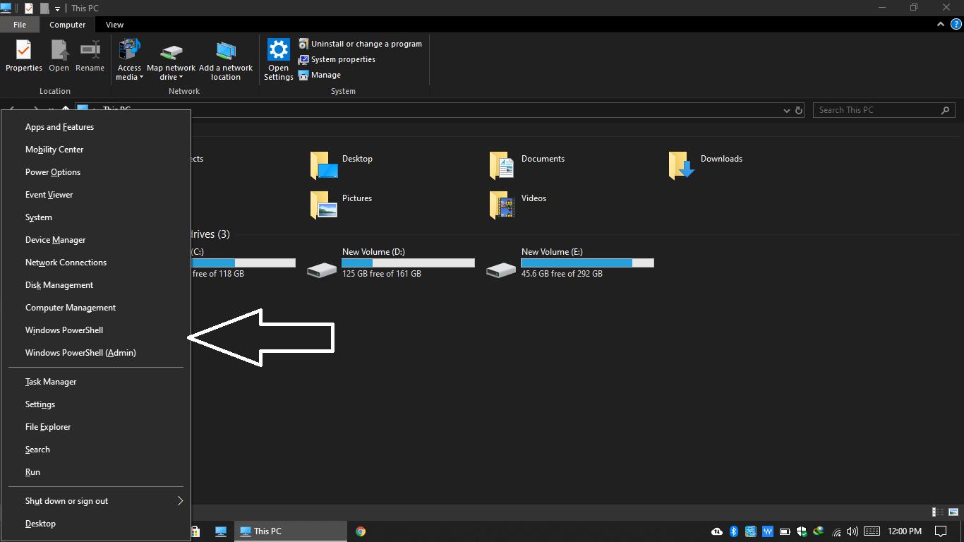 This PC window on windows 10, Windows 10 Features
