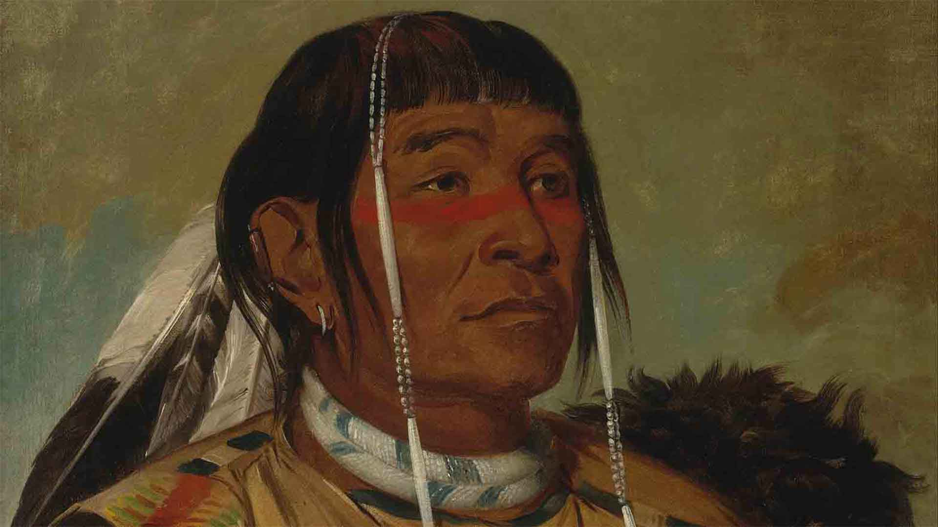 Painting of an Plain Indian - American History